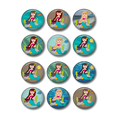 Mermaid button badge party favours