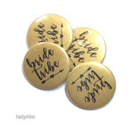 Pack of 10 Hen Party badges  - Bride Tribe