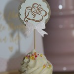8 Baby Shower Cupcake Toppers ~ Little Bootie Cupcake Toppers