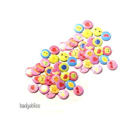 Cute fruit button badge party favours