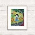 Summer Days ~ A3 Art Print | Quirky Nursery Decor | Home Wall Decor