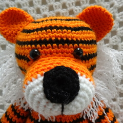 Tiger:  Crochet Toy, Toddler Boy Gift