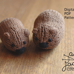 Wombat Knitting Pattern