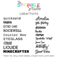 NAME LABEL - Small Vinyl Label - DOUBLE LAYER | 2 COLOURS!!!