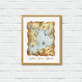Explore Dream Discover Instant Download Printable Quote Illustration | A3 A4 A5