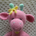 Giraffe:  Crochet Toy, Baby Girl Gift