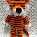 Tiger:  READY TO POST, Crochet Toy, Toddler Boy Gift