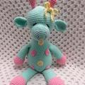 Giraffe, Crochet Toy, Baby Girl Gift