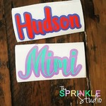 NAME LABEL - Small Vinyl Label - DOUBLE LAYER