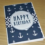 Male Happy Birthday card - nautical