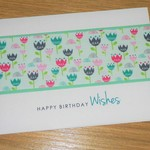 Female birthday card - coloured flowers