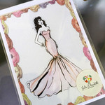 Rose  - Art Greeting Card Fashion Illustration | Blank | Hand Embellished