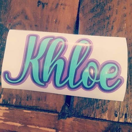 NAME LABEL - Medium Vinyl Label - TRIPLE LAYER | 3 COLOURS!!!