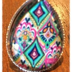 Teardrop Glass Ring