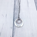 Personalised Hand Stamped Name Pendant