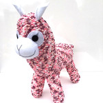 'Alice' the Sock Alpaca - plum pink and white - *READY TO POST*