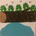 5 Green Speckled Frogs Felt Board Story
