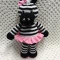 Zebra:  Crochet Toy, Girl Gift
