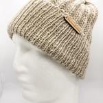 100% Wool Handmade Knitted Beige Beanie