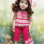Candy Stripes - 50cm Doll Clothes