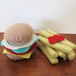 Hamburger and Chips Felt Play Food
