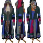 Gypsy Owl *Gaia* Up-cycled Woman's Jacket Dress