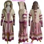 Gypsy Owl *Marshmallow* Upcycled Womans Jacket