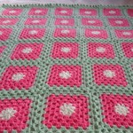 crochet baby blanket, baby shower gift, pink lemon lime, keepsake, travel rug