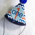 Red White & Blue Birthday Onesie & Party Hat & Legwarmers Boys 1st Birthday