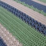 Crochet baby sampler blanket | green, blue, white | baby shower gift, travel rug