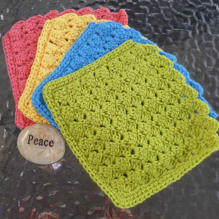 4 crochet baby wash cloths, face washers, dish cloths, gift, eco friendly