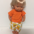 Miniland Dolls Shorts and Tee Shirt to fit 38cm dolls