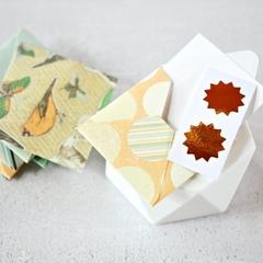 Square Envelopes {8 w Cards + Seals} | Pastel Note Sets | Stationery Set