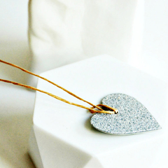Glitter Heart Tags | Silver Heart Tags | Silver Glitter Tags | Love Heart Tags