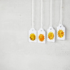 Mini Gold Starburst Tags {10} | Gold Gift Tags | Embossed Gold Tags | Starbursts