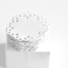 White Envelope Seals | Paper Doily Stickers | Baptism | Wedding