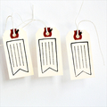 Vintage Flag Label Tags {10} Large | Pennant Flag Tags | Manila Shipping Tags