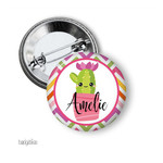Personalised name badge - Cactus