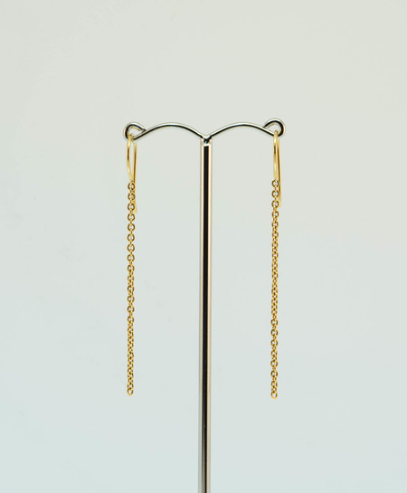 18ct Gold Thread Chain Earrings