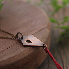 Whimsical Kite Necklace Handmade from Copper