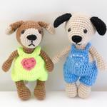 Crochet Puppy, Handmade, Amigurumi, Handmade Dolls, Stuffed Animal, Soft Toy
