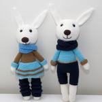 Crochet Bunny, Handmade Toy, Amigurumi, Doll, Stuffed Animal, Rabbit, Bunny