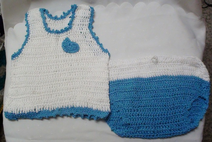 Baby Boy Crochet Singlet And Matching Pants Marys Hand Made Items