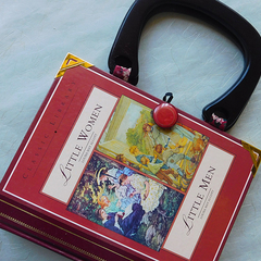 Little Women and Little Men Novel Bag - Louisa May Alcott - Bag made from a book