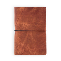VOYAGER LEATHER JOURNAL - HORWEEN ENGLISH TAN