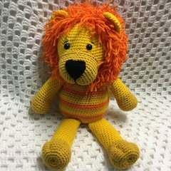 Lion, READY TO POST, Crochet Toy, Amigurumi, Toddler Boy Gift