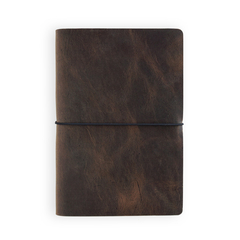 VOYAGER LEATHER JOURNAL - RUSTIC BROWN