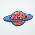 Planet Donut Embroidered Iron on Patch
