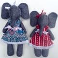 Grey Felt Elephant