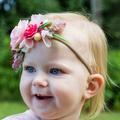 Pink Flower Headband  | Flower Crown
